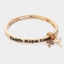 Faith, Hope, Love Bracelet With Charms