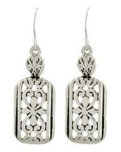 Filigreed Silver Drop Earrings