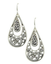 Double Teardrop Filigree Earrings