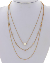 Layered Chains + Pearl Necklace: Gold OR Silver