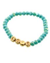Semi Precious Stone LOVE Bracelet