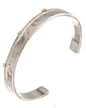 Silver Jeweled Cuff Bracelet