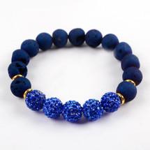 Druzy Bead Bracelet - Blue