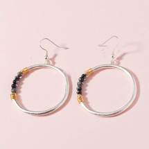 Kiki Semi Precious Stone Hoop Earrings