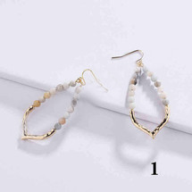 Amelia Semi Precious Hoop Earrings