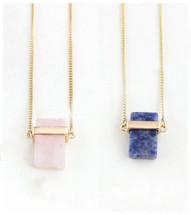Semi Precious Pendant Necklace: Rose Quartz Or Sodalite
