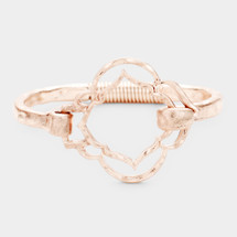 Antique Metal Hinged Bracelet