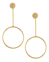 Bar Circle Earrings: Gold Or Silver