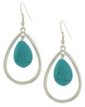 Turquoise Teardrop Earrings: Gold Or Silver