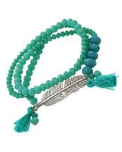 Turquoise Feather Wrap Bracelet