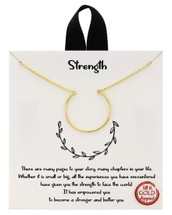Strength Necklace: Gold Or Silver