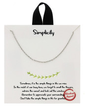 Simplicity Necklace: Gold Or Silver
