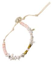 Semi Precious Stones Bracelet: White