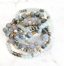 Blue Smoke Bracelet Stack