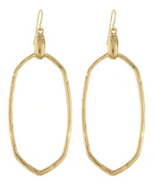 Modern Hammered Drop Earrings: Gold Or Silver