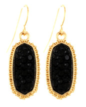 Black + Gold Classic Drop Earrings