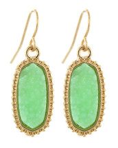 Green + Gold Classic Drop Earrings