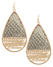 Taupe Teardrop Earrings