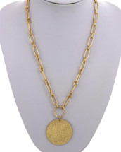 Medallion Links Necklace