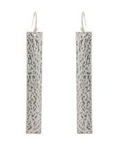 Hammered long Rectangle Earrings