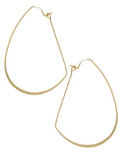 Wire Half Circle Hoops: Gold Or Silver