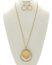 Circle Medallion Necklace Set