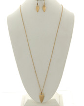 Arrowhead Long Necklace And Earring Set