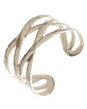 Hammered Criss Cross Cuff Bracelet