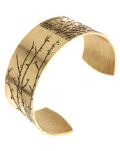 Branches Etched Burnished Cuff