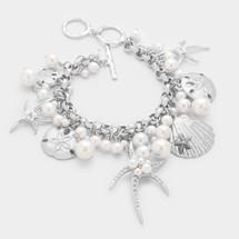 Beachy Pearls Charm Bracelet