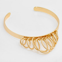 Drop Circles Cuff Bracelet: Gold Or Silver