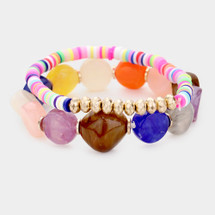 Candy Colored Bracelet Stack