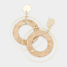 Gold + Cork Open Hoops
