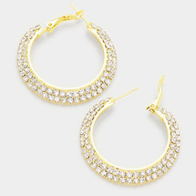 "1.7"" Crystal Pave Hoops"
