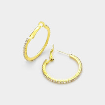 Skinny Little Pave Hoops: Gold Or Silver