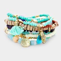 Blue Skies Bracelet Set/Stack