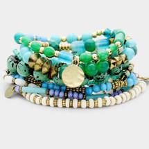 Blues & Greens Bracelet Set/Stack