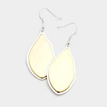 Wavy Teardrop Earrings