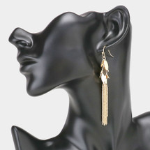 Marquise Cluster Tassel Earrings: Gold Or Silver