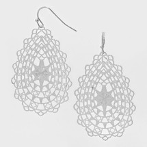 Filigree Teardrop Cut out Earrings: Gold Or Silver