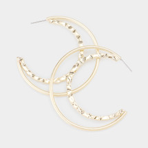 Crescent Moon Earrings: Gold Or Silver