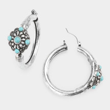 Out West Turquoise Hoops