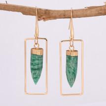 Amazonite Semi Precious Earrings