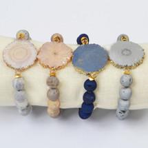 Gold Plated Solar Quartz Bracelet