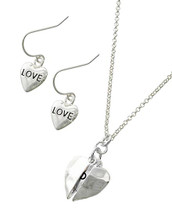 Hammered Love Heart Necklace