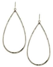 Shine Bright Teardrop Hoops: Gold Or Silver