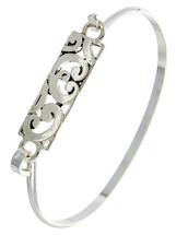 Antique Silver Swirl Hook Bracelet