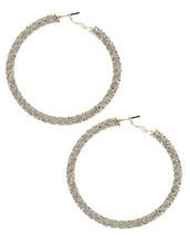 Silvered Hoops