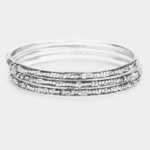 Golden/Silver Nugget Bracelet Set: Gold Or Silver