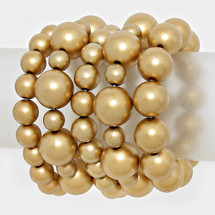 Golden Pearl Stretch Bracelet Set